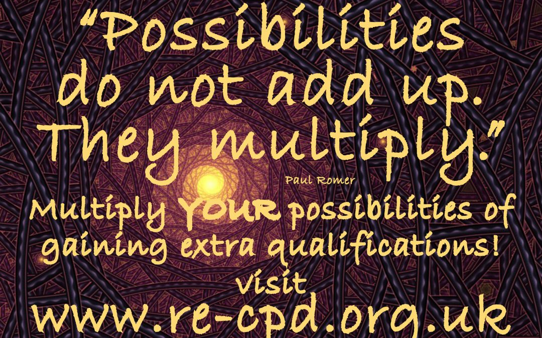 """""""Possibilities do not add up. They multiply."""""""