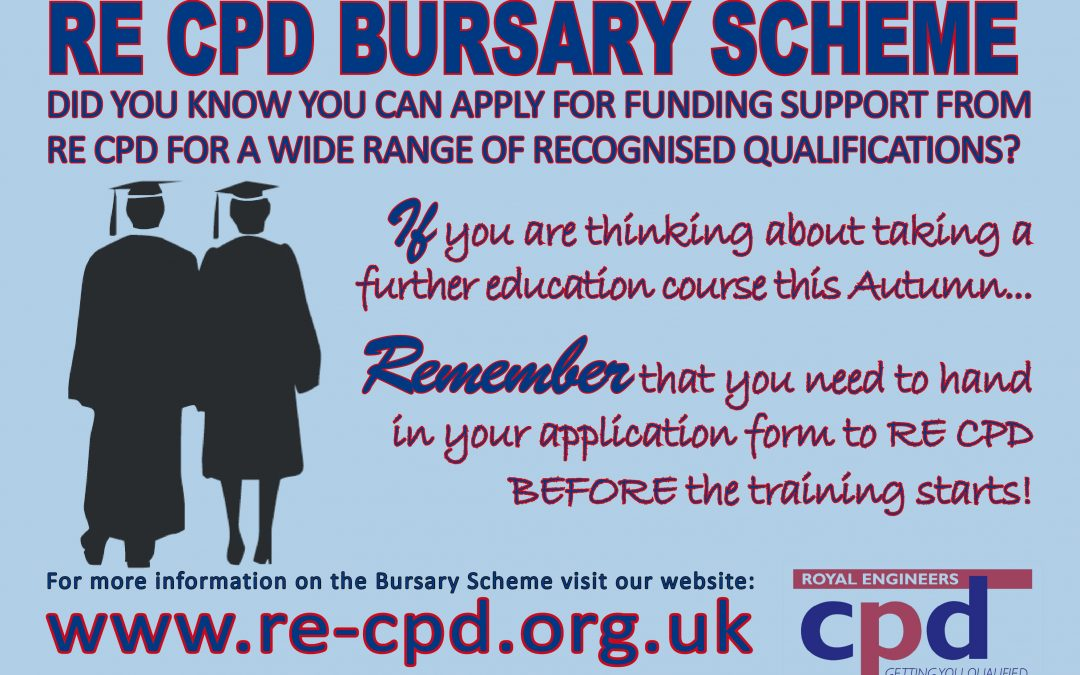 Interested in the RE CPD Bursary Scheme?