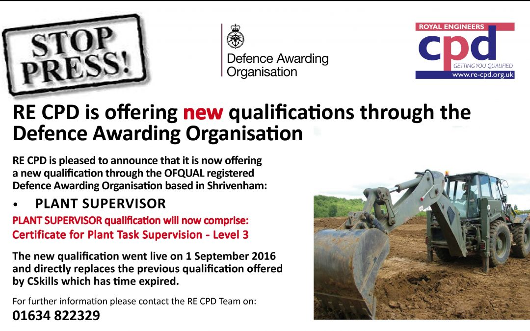 Another new qualification through the Defence Awarding Organisation