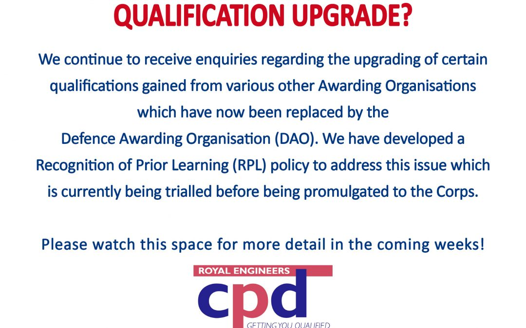 Qualification Upgrade?