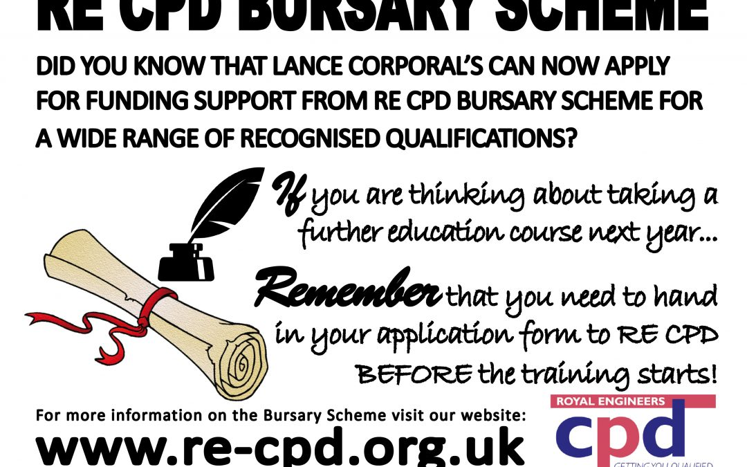 Changes to the RE CPD Bursary Scheme