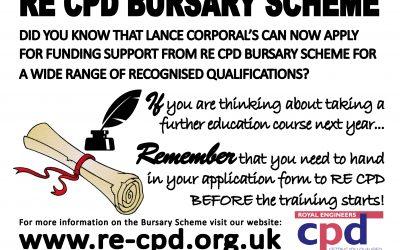 Changes to the RE CPD Bursary Scheme